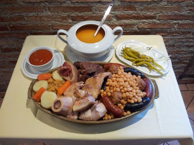 Cocido del Restaurante Cruz Blanca Vallecas