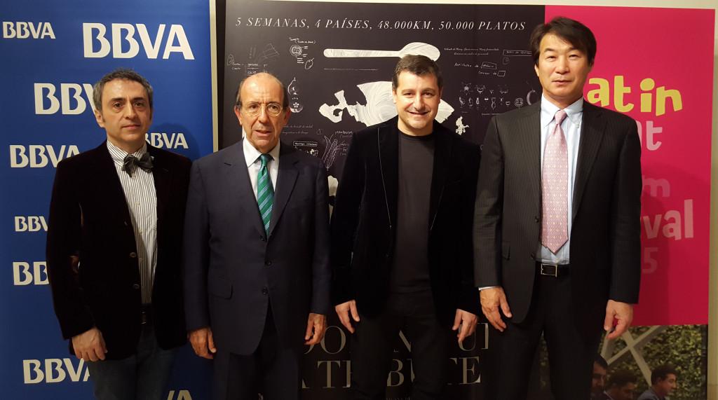 Alberto Calero, Gonzalo de Benito, Josep Roca y Hiroshi Hashida