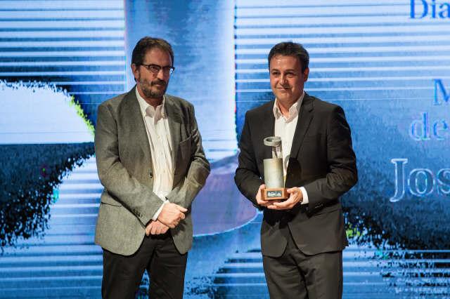 Premio difusión de la gastronomía para el periodista José Ribagorda. | SERGIO MÉNDEZ