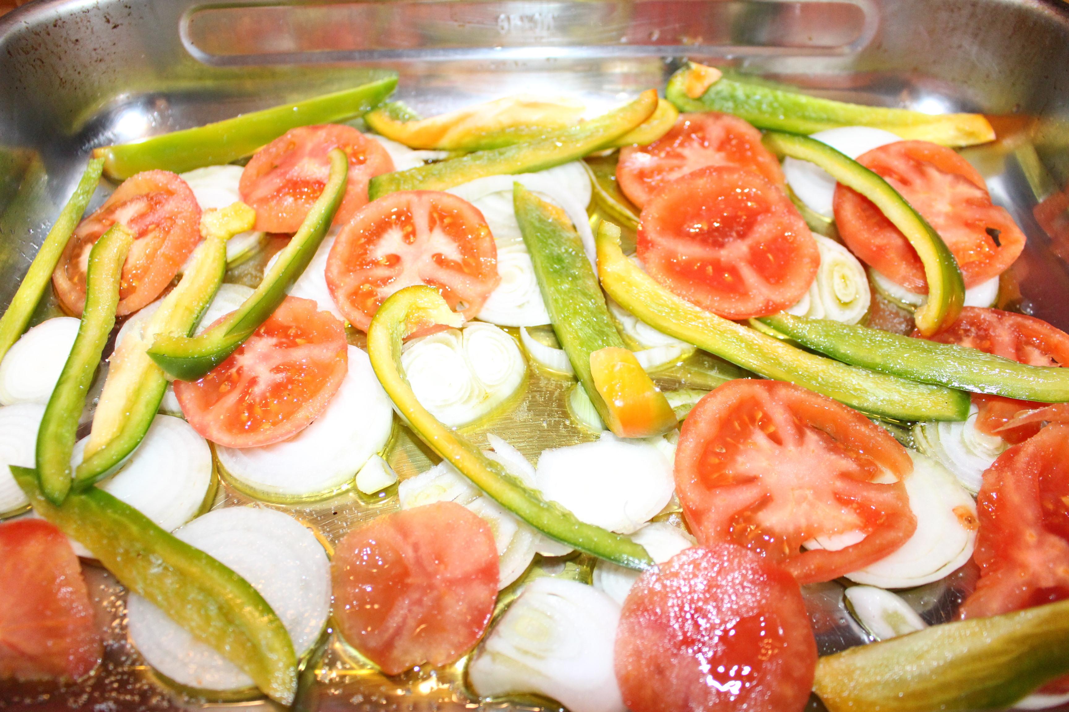 Merluza al horno con verduras - Verduras rellenas al horno ...