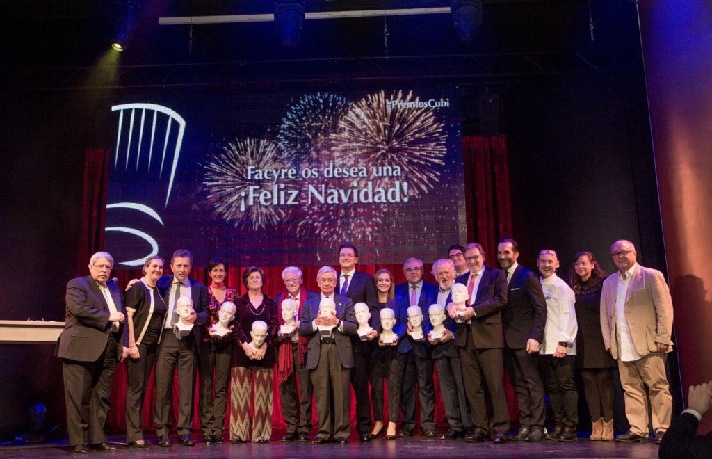 La Federación de Cocineros y Reposteros de España (FACYRE) otorgó los Premios Cubi