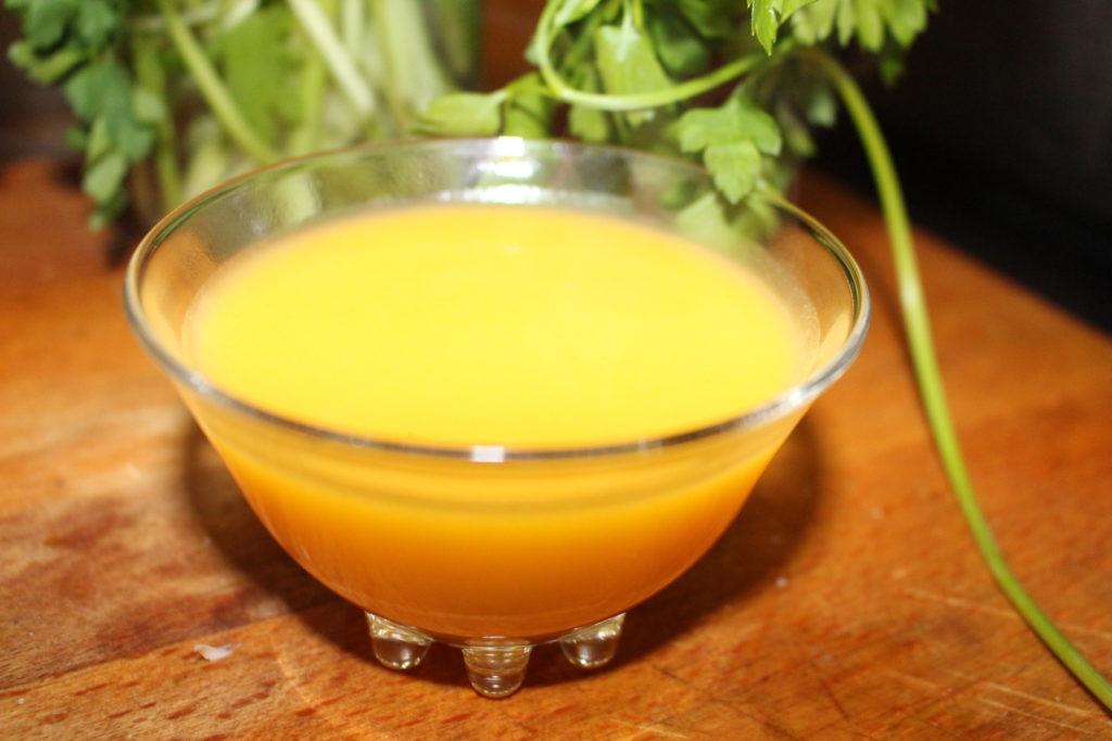 Receta de verduras: Crema de calabaza y zanahorias