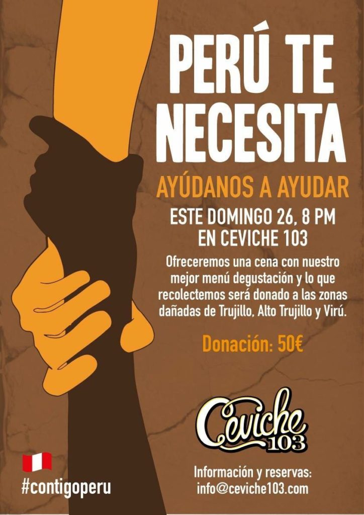 """""""Perú te necesita""""  Contra el desastre, gastronomía solidaria"""