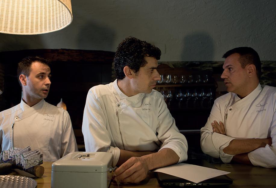 Oriol Castro, Mateu Casañas y Eduard Xatruch